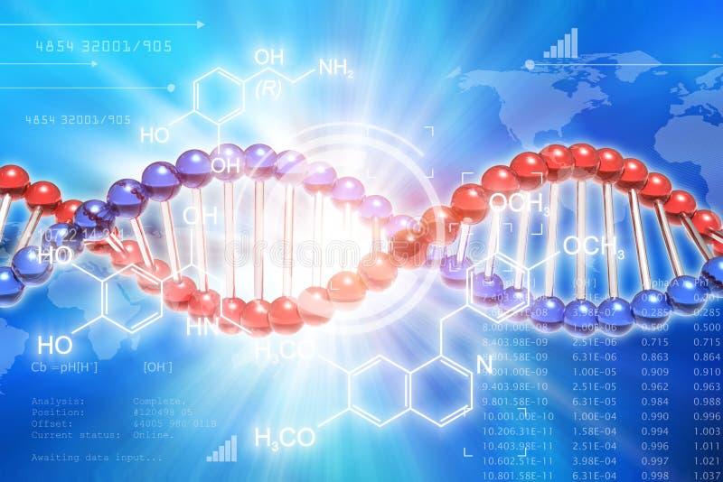 Concetto di scienza di ricerca genetica del DNA royalty illustrazione gratis