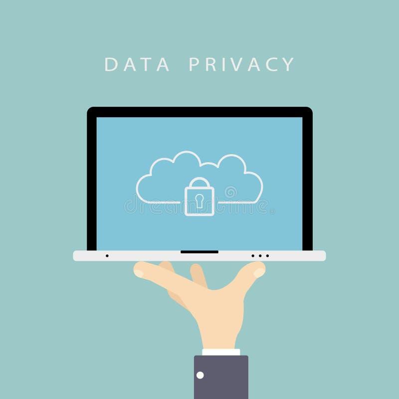 Concetto di segretezza di dati illustrazione vettoriale