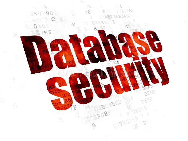 Concetto di segretezza: Sicurezza della base di dati sul fondo di Digital illustrazione di stock