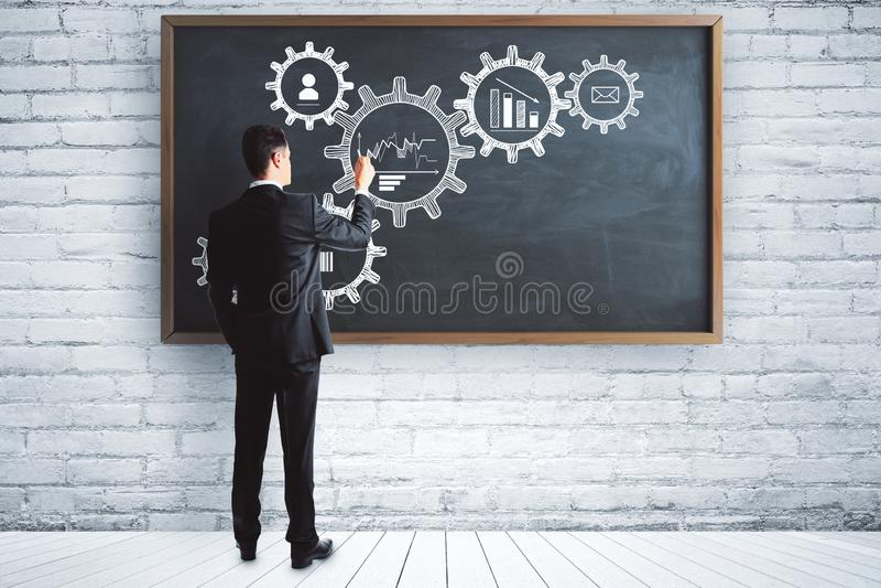 Concetto di seminario e di ingegneria immagini stock libere da diritti
