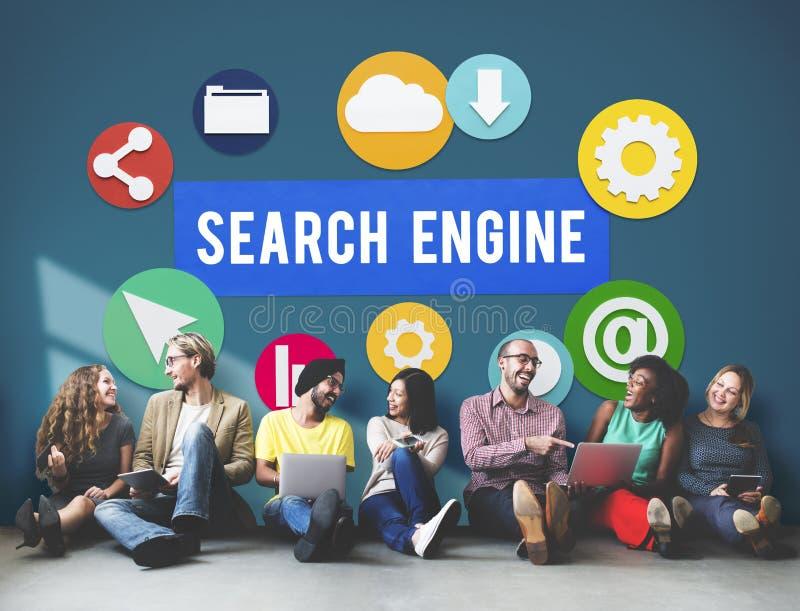 Concetto di SEO Search Engine Optimization Searching fotografia stock libera da diritti