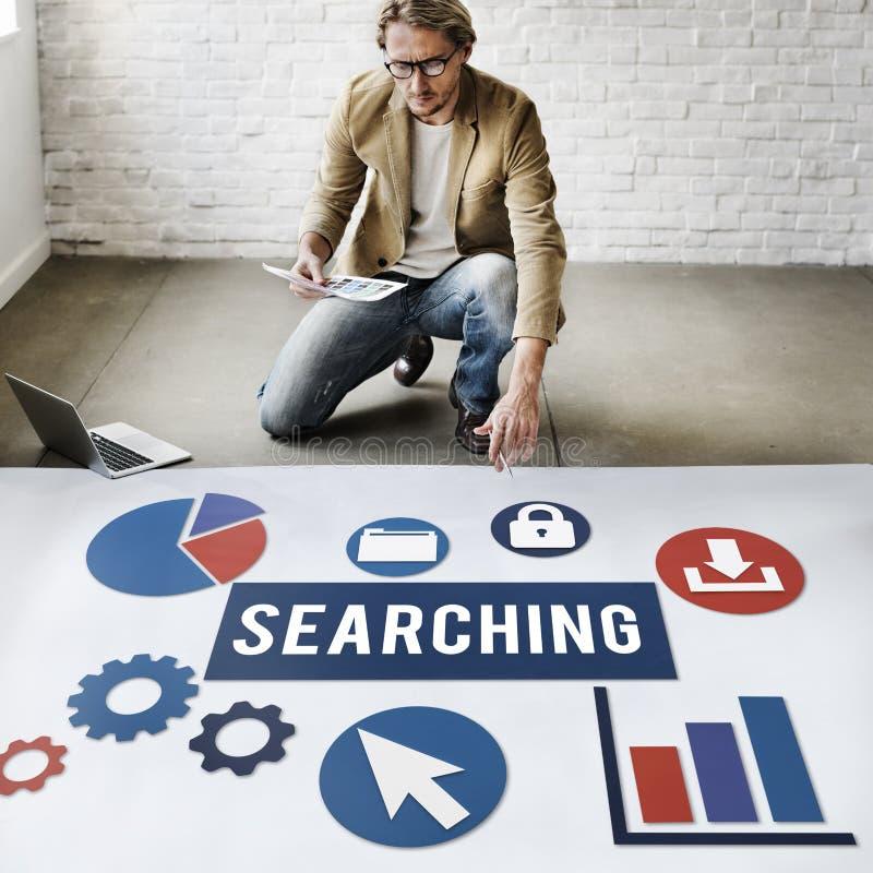 Concetto di SEO Search Engine Optimization Searching fotografie stock