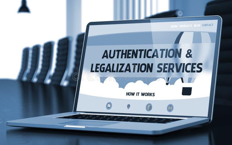 Concetto di servizi di legalizzazione e di autenticazione 3d fotografia stock libera da diritti
