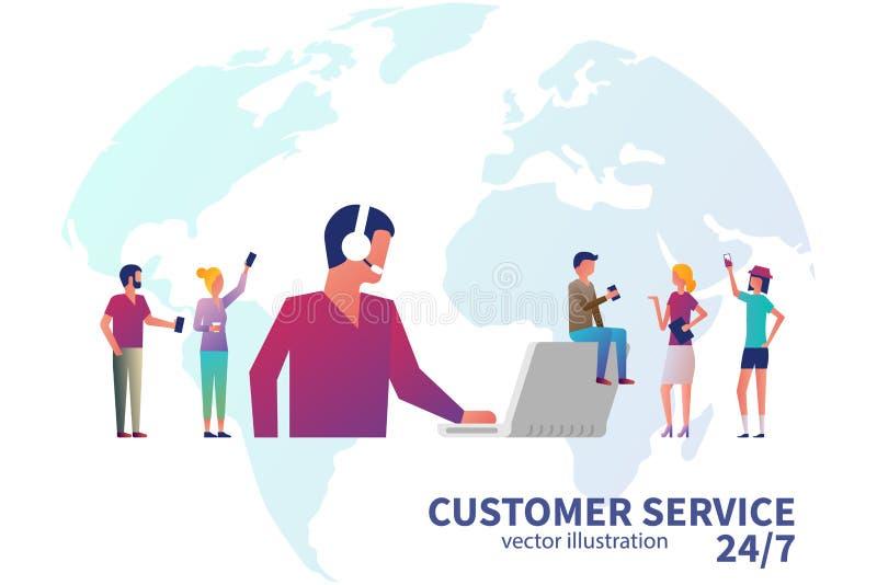 Concetto di servizio di assistenza al cliente illustrazione di stock