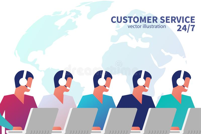 Concetto di servizio di assistenza al cliente illustrazione vettoriale