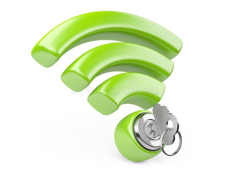 Concetto di sicurezza di WiFi royalty illustrazione gratis
