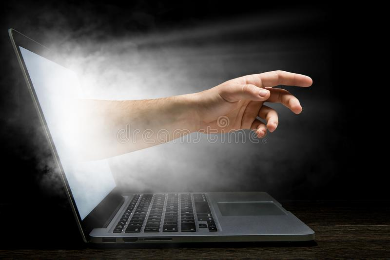 Concetto di sicurezza di Internet Media misti fotografie stock