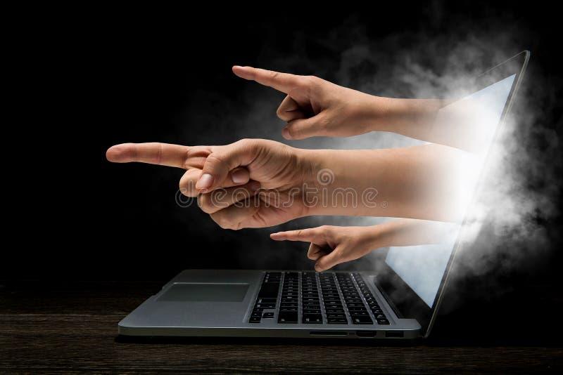 Concetto di sicurezza di Internet Media misti immagini stock libere da diritti