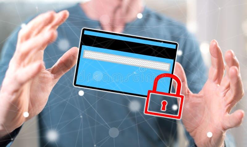 Concetto di sicurezza di pagamento fotografia stock