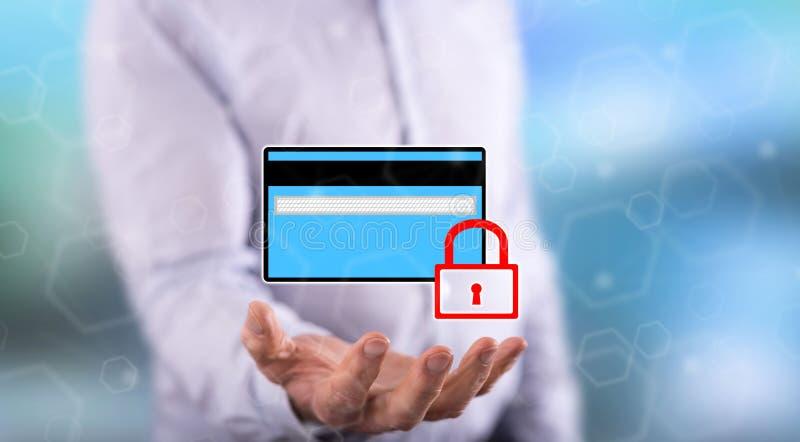 Concetto di sicurezza di pagamento immagini stock libere da diritti