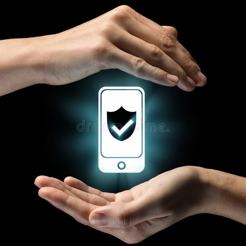 Concetto di sicurezza, protezione dei dati immagini stock