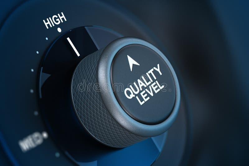 Concetto di soddisfazione del cliente della qualità totale illustrazione vettoriale