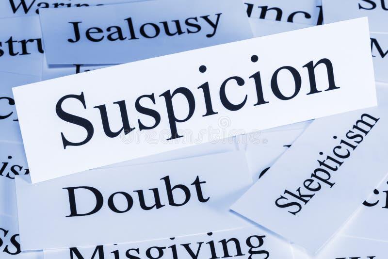 Concetto di sospetto immagine stock libera da diritti