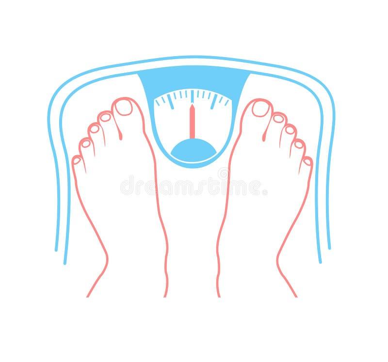 Concetto di sovrappeso royalty illustrazione gratis