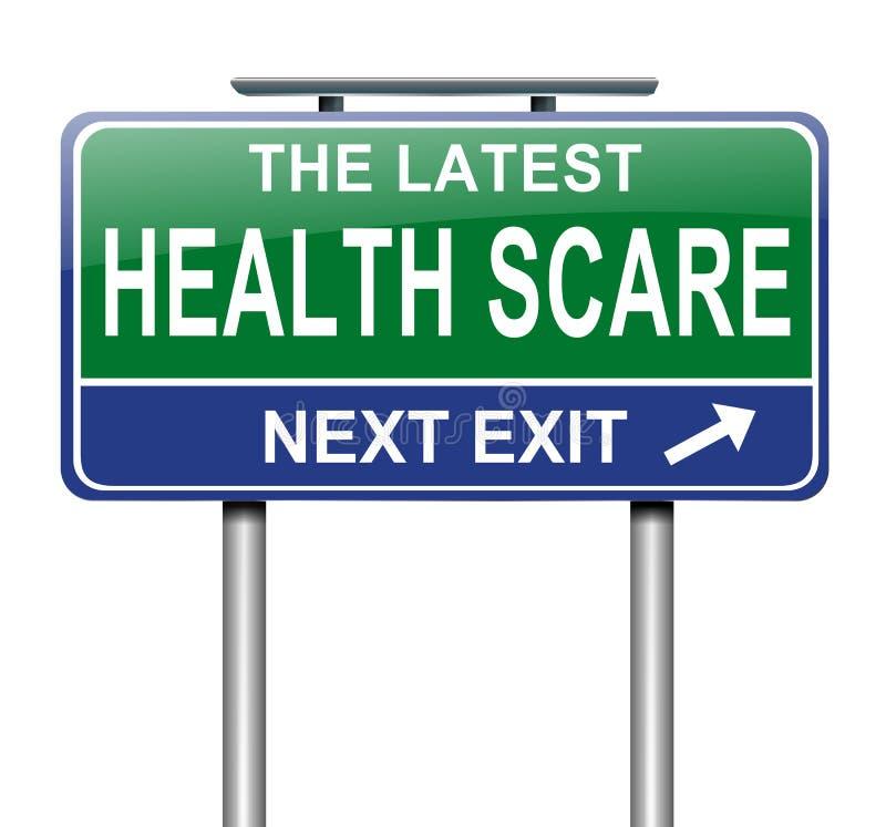 Concetto di spavento di salute. royalty illustrazione gratis