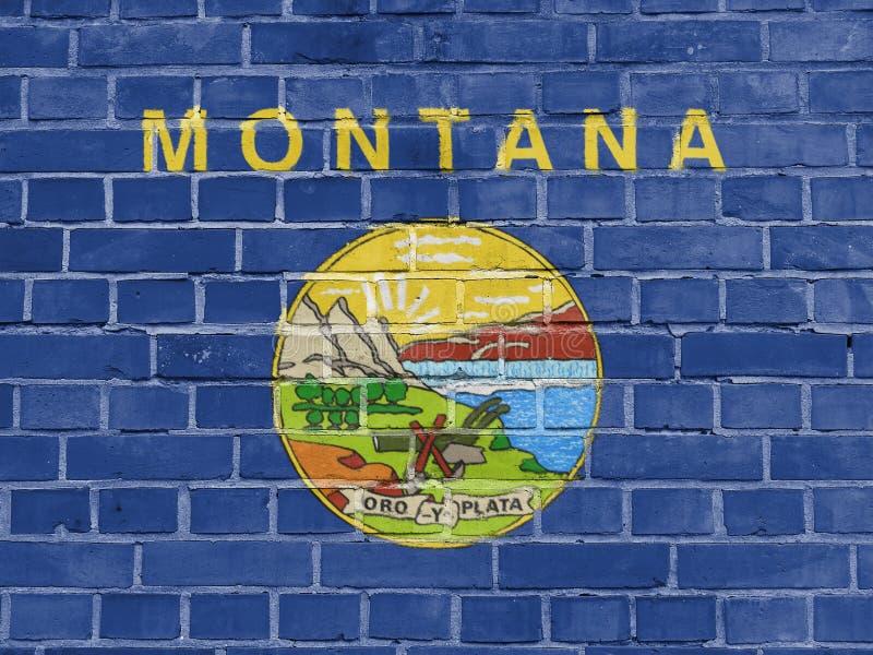 Concetto di stati USA: Montana Flag Wall illustrazione di stock
