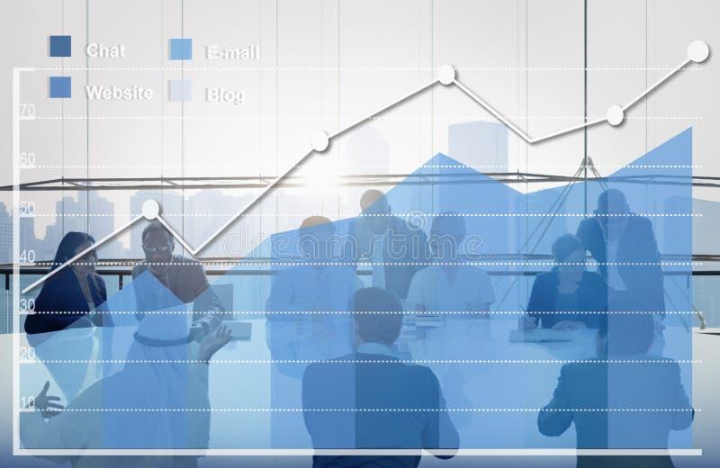 Concetto di statistiche d'impresa di analisi dei dati di analisi immagini stock libere da diritti