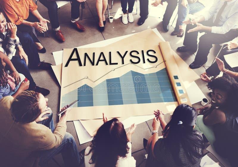Concetto di statistiche d'impresa di analisi dei dati di analisi fotografia stock