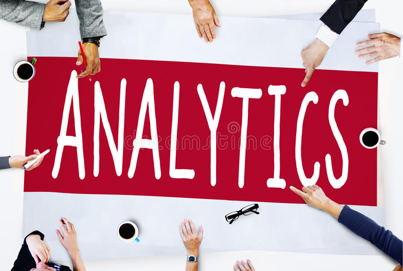 Concetto di statistiche di pianificazione di informazioni di dati di analisi di analisi dei dati fotografie stock libere da diritti