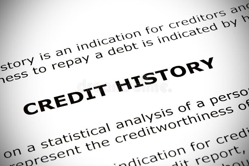 Concetto di storia di credito immagine stock libera da diritti