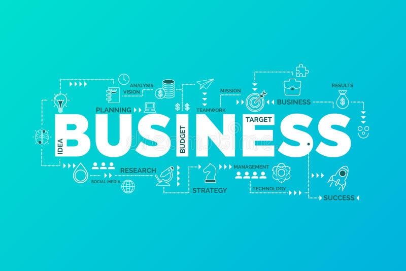 Concetto di strategia aziendale Disegno di Infographic Grafico con le icone royalty illustrazione gratis
