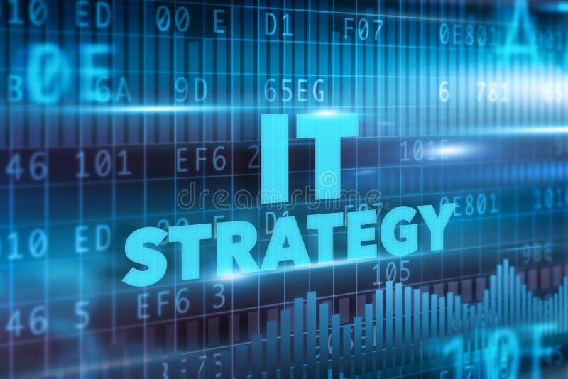 Concetto di strategia dell'IT royalty illustrazione gratis
