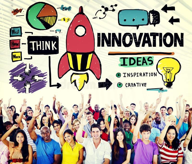Concetto di strategia di missione di creatività del business plan dell'innovazione illustrazione vettoriale