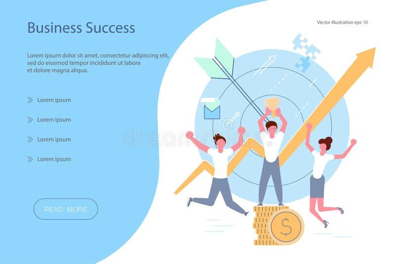 Concetto di successo di affari royalty illustrazione gratis