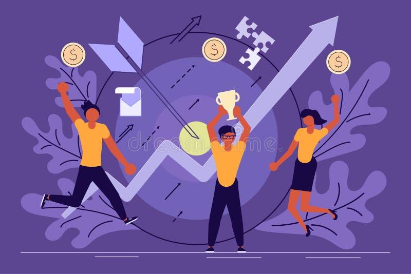Concetto di successo di affari illustrazione di stock