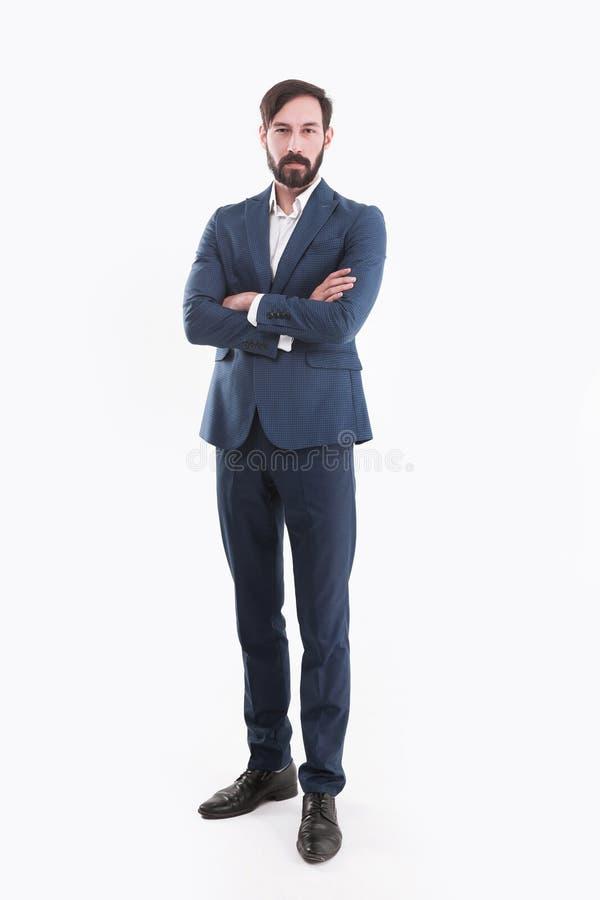 Concetto di successo di affari - un ritratto di un affare sicuro fotografie stock libere da diritti