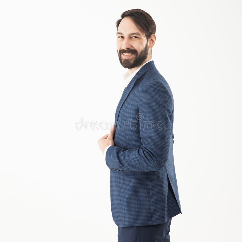 Concetto di successo di affari - un ritratto nel profilo di una confidenza fotografia stock