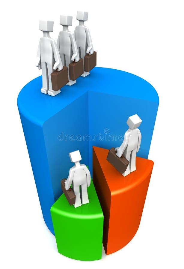 Concetto di successo di lavoro di squadra di affari illustrazione di stock