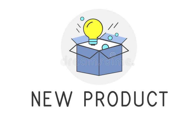 Concetto di successo di sviluppo di nuovo prodotto illustrazione di stock