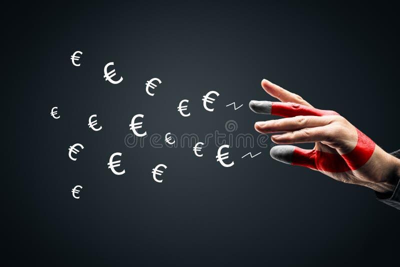Concetto di successo finanziario - magnete di denaro fotografia stock