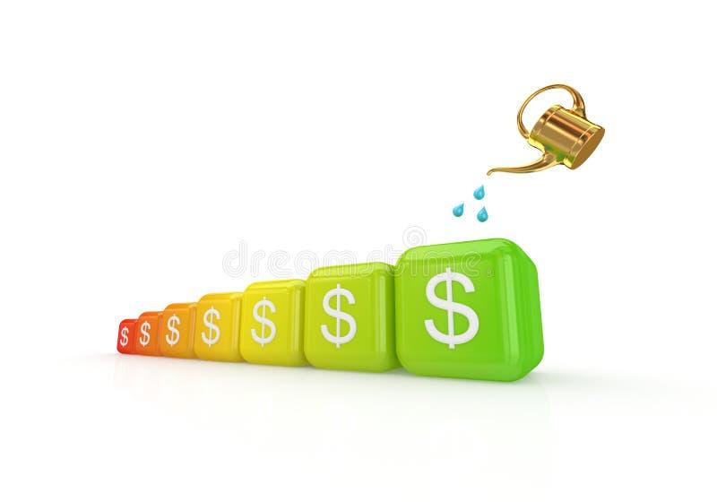 Concetto di sviluppo dei guadagni. royalty illustrazione gratis
