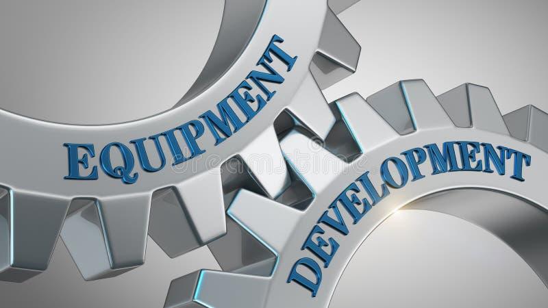 Concetto di sviluppo dell'attrezzatura illustrazione vettoriale