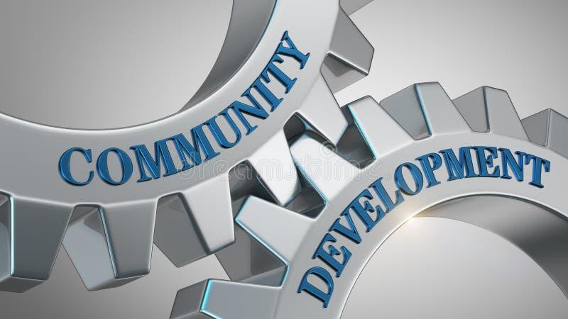 Concetto di sviluppo della comunità illustrazione di stock
