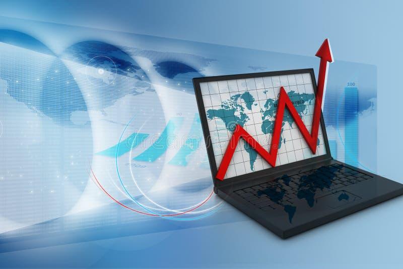 Concetto di sviluppo di affari illustrazione di stock