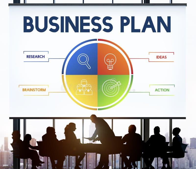 Concetto di sviluppo di strategia del business plan fotografie stock