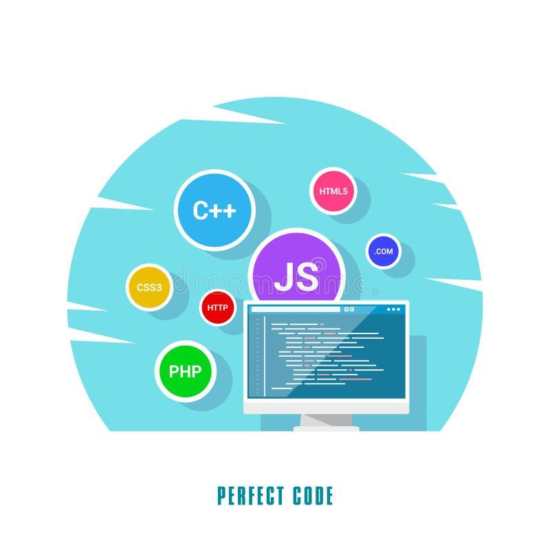 Concetto di sviluppo di software illustrazione di stock