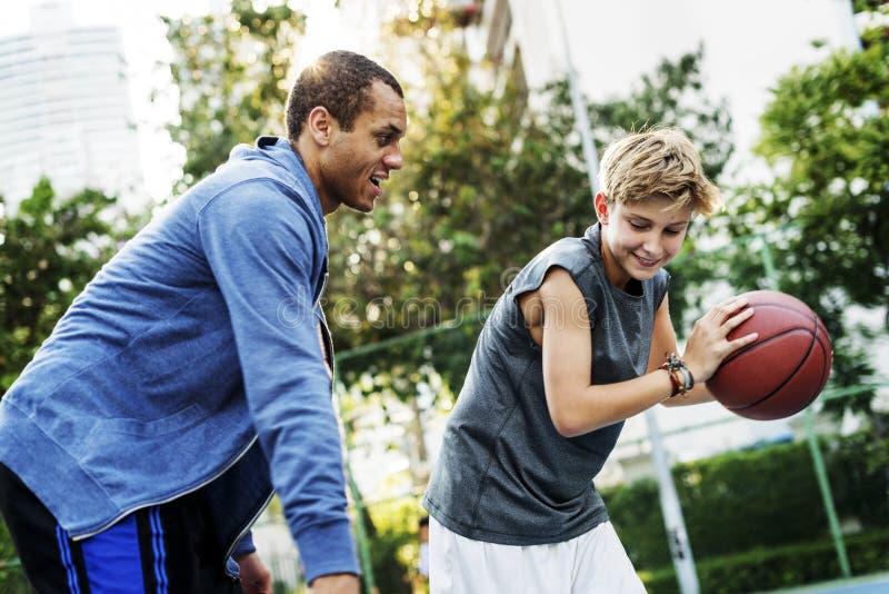 Concetto di Team Athlete Basketball Bounce Sport della vettura immagine stock libera da diritti