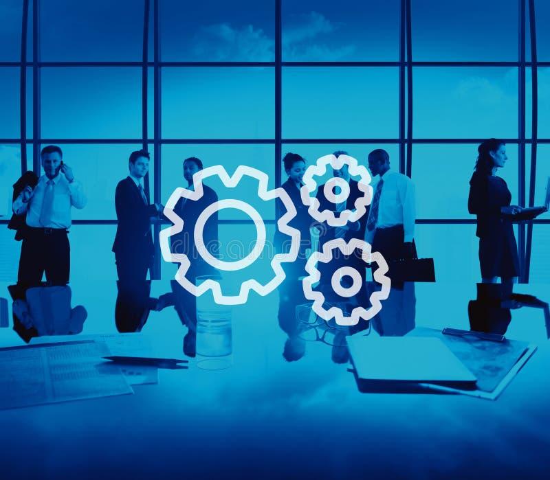 Concetto di Team Collaboration Connection Gear Organisation di lavoro di squadra illustrazione di stock