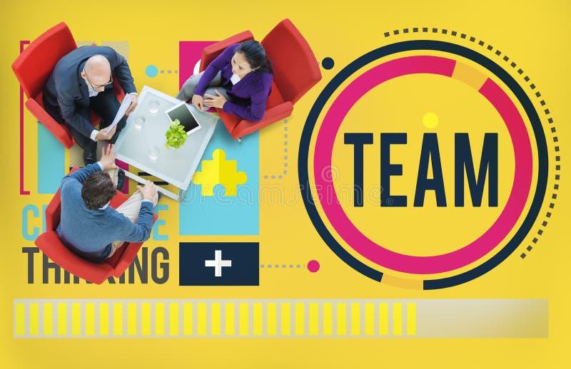 Concetto di Team Corporate Teamwork Collaboration Assistance fotografie stock libere da diritti