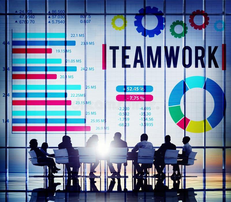 Concetto di Team Corporate Teamwork Collaboration Assistance fotografia stock