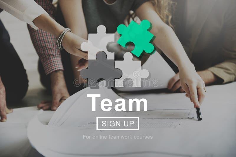 Concetto di Team Teamwork Collaboration Connection Unity fotografia stock