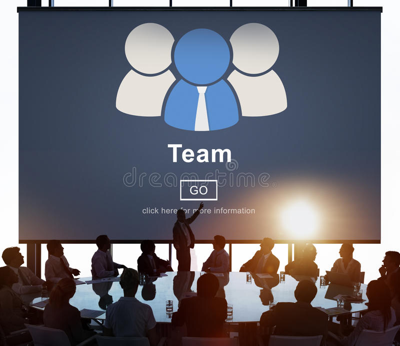 Concetto di Team Teamwork Connection Partnership Togetherness immagini stock