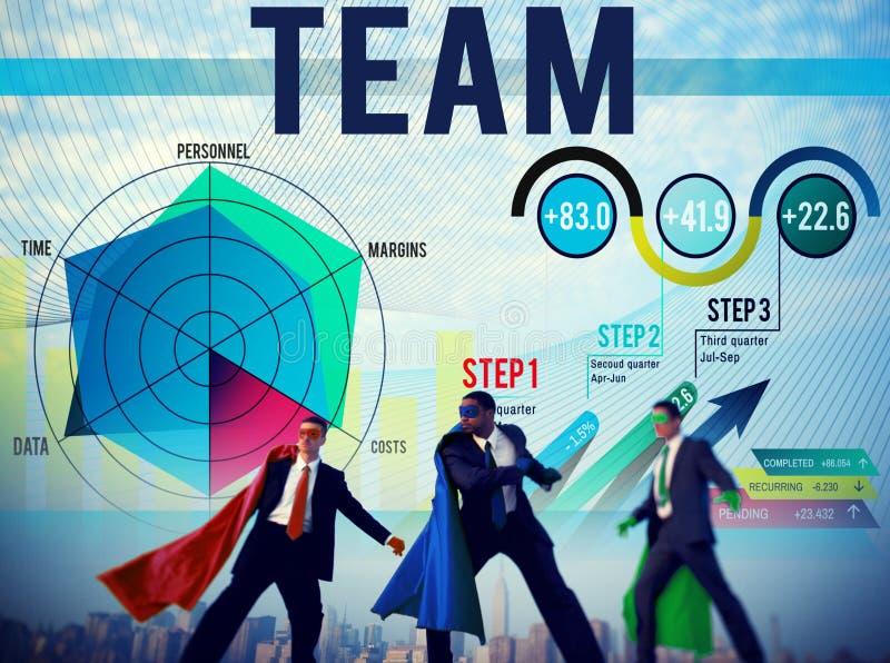 Concetto di Team Teamwork Corporate Partnership Cooperation fotografie stock libere da diritti
