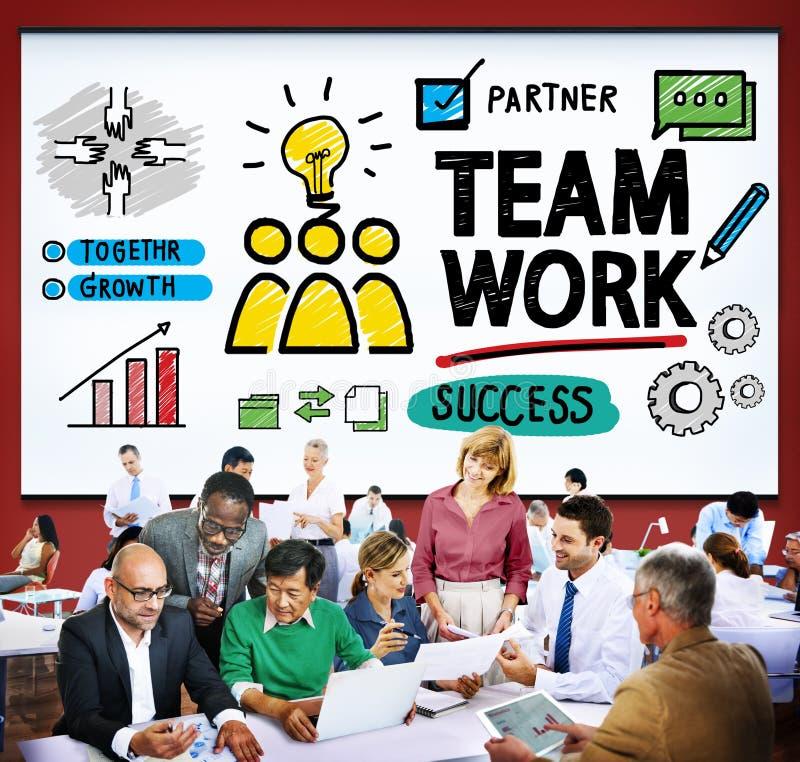 Concetto di Team Teamwork Group Collaboration Organization fotografia stock libera da diritti