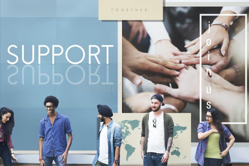 Concetto di Team Teamwork Help Share Contribute immagini stock libere da diritti