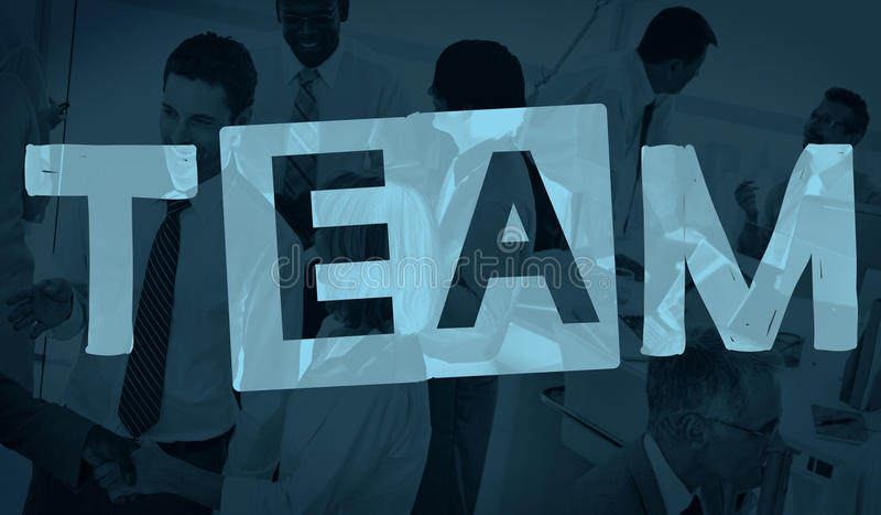 Concetto di Team Teamwork Partnership Alliance Unity fotografia stock libera da diritti